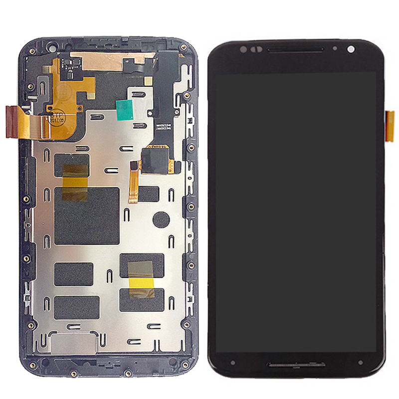Tested Well LCD For Motorola Moto X2 Xt1092 Xt1095 Xt1097 LCD Display + Touch Screen with Digitizer Assembly Frame Kit Tools new original lcd replacements for motorola moto g xt1032 xt1033 lcd display touch digitizer screen with frame assembly tools