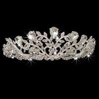Luxury Elegant Sparkly Crystal Rhinestone Crown Tiara Wedding Prom Bride Pearl Headband Hairband Bridal Bridesmaid Hair