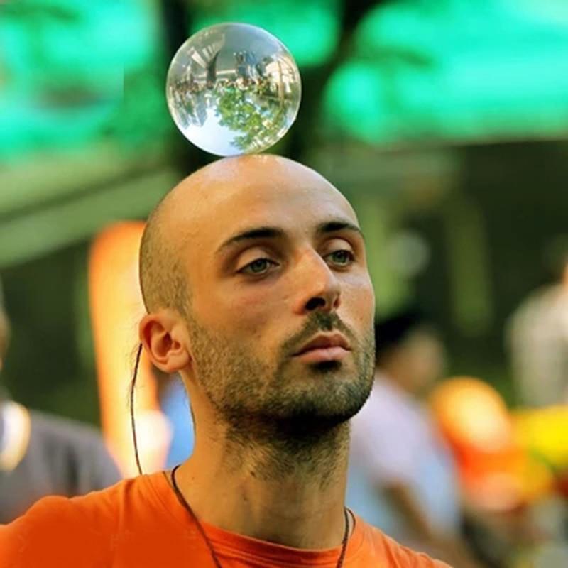 जादूगर के लिए 100 मिमी एक्रिलिक गेंद क्रिस्टल बॉल स्टेज गेंद जादू ट्रिक्स