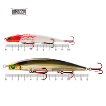 Kingdom 128mm 23.5g/90mm 10g fishing lures artificial hard body minnow switchable lilps artificial for sea bass model 5358