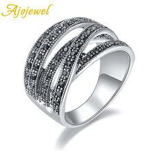 Женское Винтажное кольцо с кристаллами в античном стиле