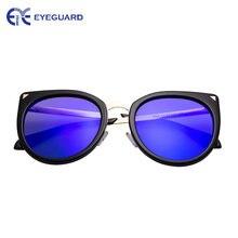 Очки солнцезащитные очки оверсайз с поляризацией кошачий глаз
