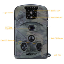 KKMOON 12MP 720P HD 850nm IR IP54 Security Scouting Hunting Trail Camera with 8GB SD Card 2.4inch LED Screen Game Camera
