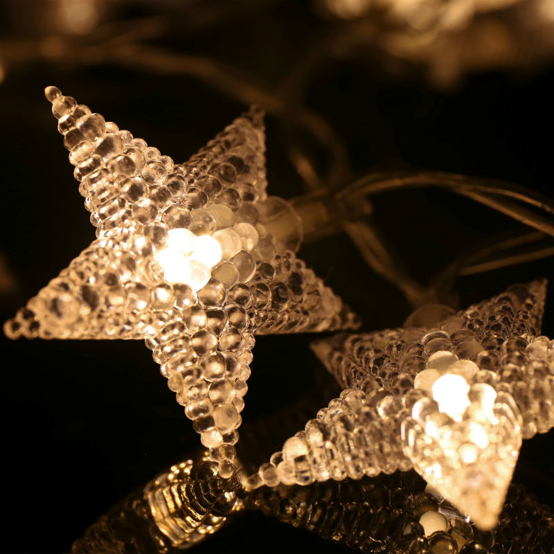 1M/2M 10/20 LED Party Fairy Lights Battery Operated Star LED string lights for Wedding Xmas Decoration Outdoor Indoor warm white