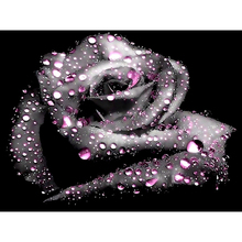 5d Rhinestones Diy Mosaic Diamond Painting Black Rose Cross Stitch Craft Square Resin Diamond Embroidery RS1629 5d rhinestones diy mosaic diamond painting moon landscape cross stitch craft square resin diamond embroidery