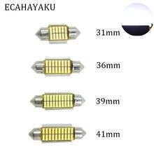 ECAHAYAKU 20x 31mm 36mm 39mm 41mm C5W C10W CANBUS Error Free Auto Festoon SMD 4014 LED Car Interior Dome Lamp Reading Bulb White