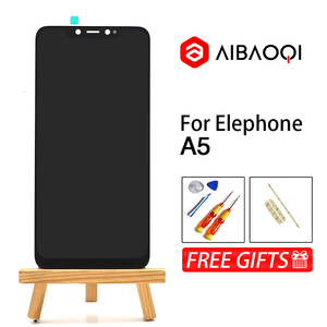 Image 1 - AiBaoQi New Original 6.18 inch Touch Screen+2246x1080 LCD Display Assembly Replacement For Elephone A5 Android 8.1 Phone