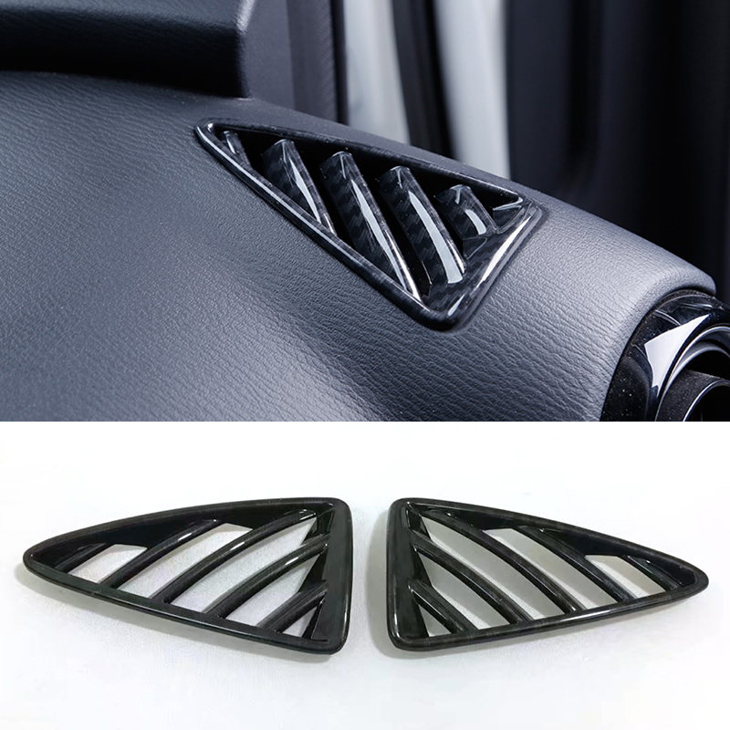 2pcs For <font><b>Mazda</b></font> CX-3 <font><b>CX3</b></font> 2015 <font><b>2016</b></font> 2017 2018 ABS Front Upper Interior AC Decorative Frame Moulding Air Condition Cover image