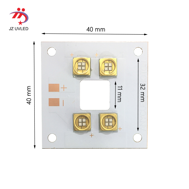 40W UV Module for 3D photosensitive resin printer UV gel curing lights Ultraviolet light ink the cure 365nm 395nm lamp beads