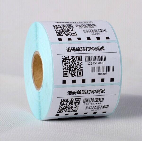Papel de etiqueta de código de barras de papel de etiqueta térmica de 50X30 para impresora de etiquetas térmicas