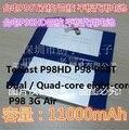 3.7 V 11000 mAh Bateria Para Teclast P98 P98HD P98T Tablet Bateria Dual/Quad-core oito-core P98 3G Tablet PC Da Bateria Do Ar