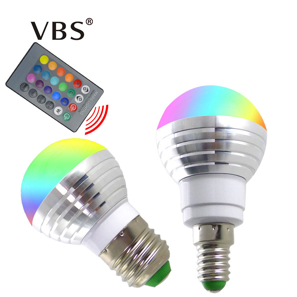 real power 3w rgb led bulb e27 e14 bombillas led spotlight 16 color lampada ac85 265v remote. Black Bedroom Furniture Sets. Home Design Ideas