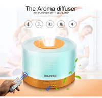 Essential Oil Diffuser 500ml Remote Control Aroma Mist Ultrasonic Air Humidifier 4 Timer Settings LED Light