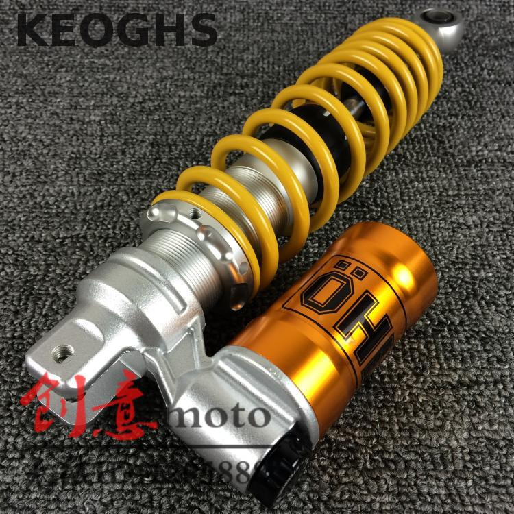 Keoghs Motorcycle Rear Shock Absorber 320/340/360mm Damping Adjustable For Yamaha Scooter Bws Cygnus Pcx150 Pgo Gtr Modify keoghs motorcycle high quality personality swingarm swinging arm rear fork all cnc for yamaha scooter bws cygnus honda modify