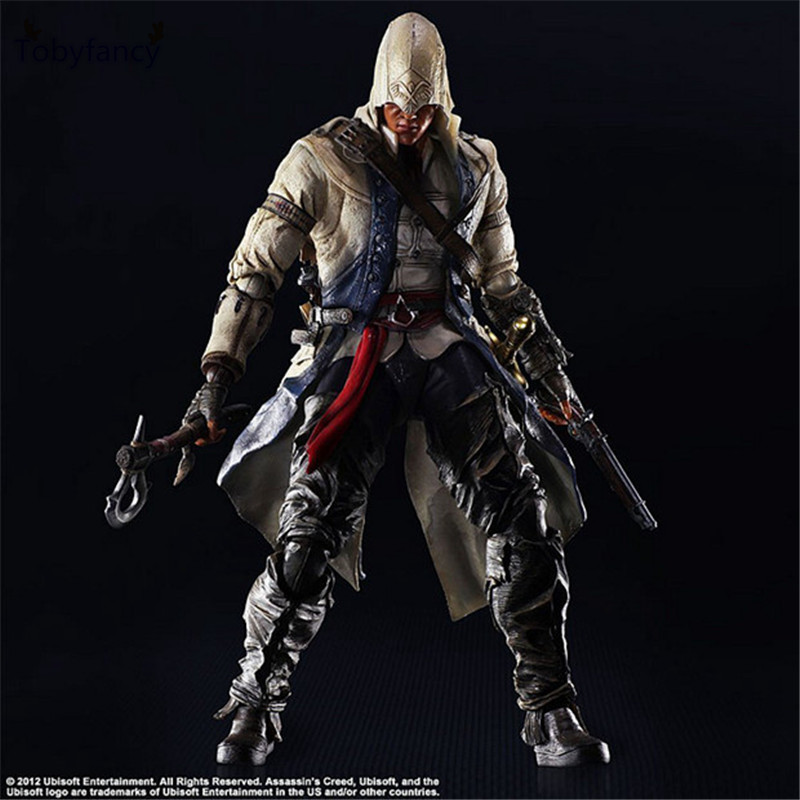 Tobyfancy Assassin's Creed Action Figure Playarts Kai Connor Kenway Collection Model Toys PVC 275mm Assassin Creed PA Kai assassins creed connor action figure iii game toys assassin creed 260mm pvc anime collectible action figures assassin creed toy