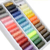 Lucia crafts 39 Colors Reels Polyester Sewing Threads Yarn Hand Embroidery Sewing Thread Spools Craft 39pcs/set W0310