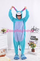 Little Donkey Pajamas Animal Cosplay Costume Coral Girls Boys Adult Kid Pajamas Onesies Cartoon Halloween Sleepwear