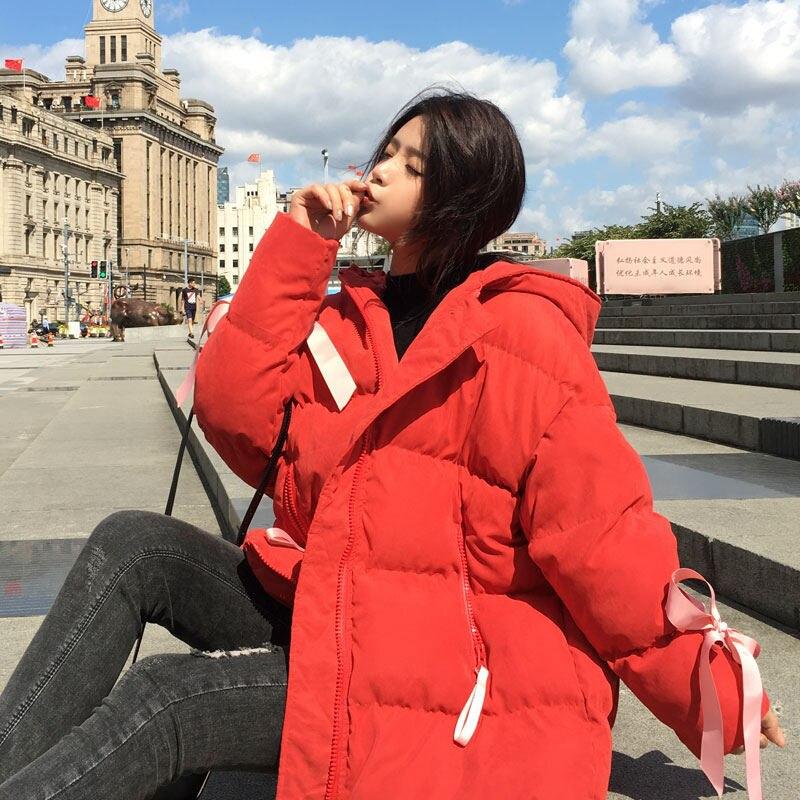 Manteau Bas Vers Style creamy Dames Harajuku Coton Épaississent Femmes white tomato Parka Chaud Lâche Z19 yellow Red Veste Bf pink Green Blue D'hiver Le À Capuchon bovine Fruit Occasionnel kw8n0OP