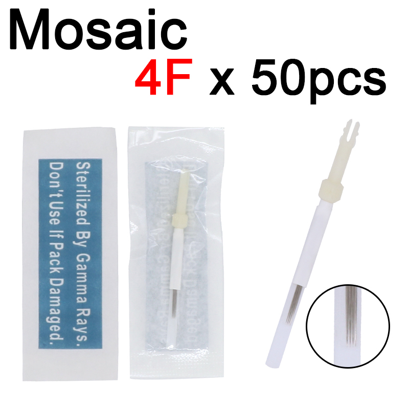 Professional Sterilized Permanent Makeup Needle Eyebrow Tattoo Needle 4 Flat 50pcs 4F Needle Biotouch Mosaic For Beauty Make Up