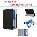 Hot ultra slim capa para samsung galaxy tab 4 10.1 smart capa case auto sono sm-t530 t531 t535 tablet flip case com stand