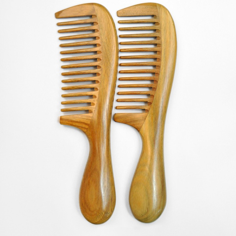 Hair Comb Curler Hairclipper Maquiagem Hair Brush Massage Comb Wooden Sandalwood Handmade Wide Tooth Comb Hair Care Beauty Sexy green sandalwood combed wooden head neck mammary gland meridian lymphatic massage comb wide teeth comb