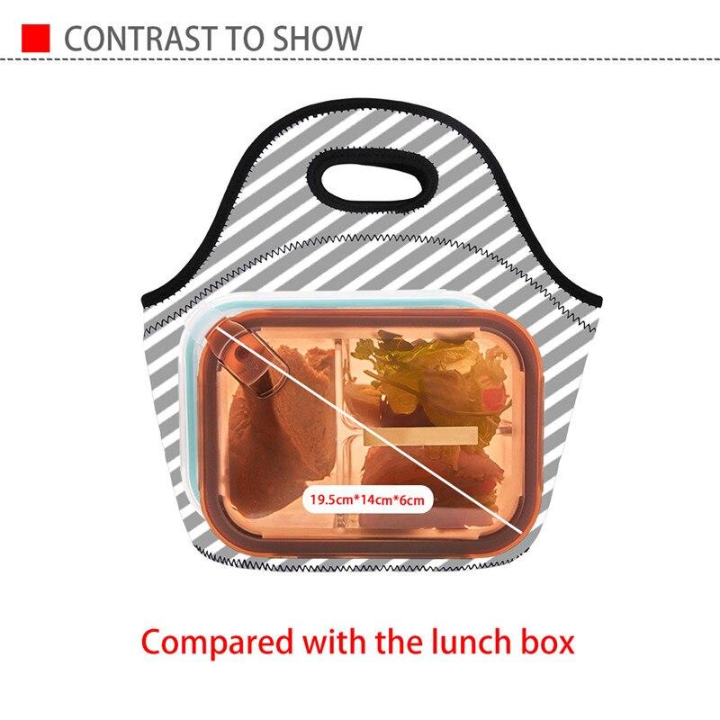 FORUDESIGNS Fashion Neoprene Lunch Bags for Women Cute Monkey Banana Printing Handbag Picnic Insulated Thermal Box Bolsa Termica