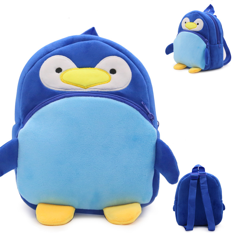 4-Colors-Plush-Backpacks-Cartoon-Kids-School-Bags-Toys-Cute-Animal-Lovely-Kindergarten-Children-Storage-Box-Doll-1-3-Year-old-5