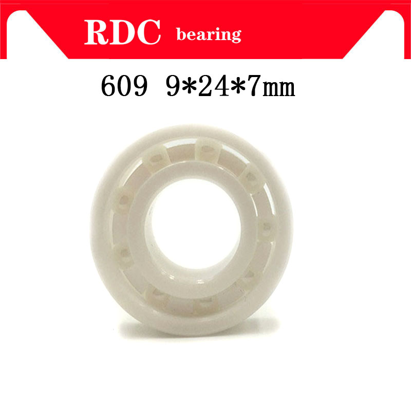 Free Shipping 609 9x24x7mm High quality full ZrO2 ceramic ball bearing zirconia bearing 9*24*7mm Factory sales ceramic wheel hub bearing zro2 15267 15 26 7mm 15267 full zro2 ceramic bearing