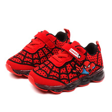 New Kids Glowing Sneakers with light Spiderman Cartoon Casual Luminous Lighted Sneakers Boy Girls Colorful LED Children Shoes
