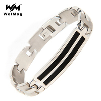 WelMag 2017 Hot Sale Silver 316L Stainless Steel Bracelets Bangles Trendy Simple Charm Geometric Bracelets Hand