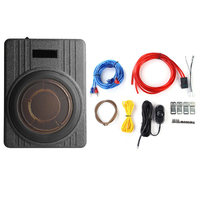 600W 10 Inch 12V Car Under Seat Ultra Thin Active Amplifier Car Subwoofer Speaker Amplifier with Remove Control