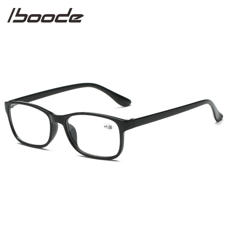 IBOODE TR90 Square Reading Glasses Men Women Presbyopic Eyeglasses Male Female Hyperopia Eyewear Optics Diopter Spectacles