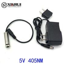 Реальная мощность фиолетовый линейный лазерный модуль 100 мВт/250 мВт 405нм Фокус Регулируемая лазерная головка 5 в промышленного класса DIY лазерный модуль