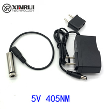 Real power purple Line Laser Module 100mW/250MW 405nm Focus Adjustable Laser Head 5V Industrial Grade DIY Laser Module