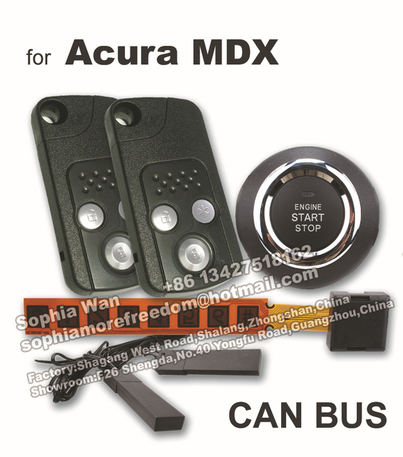 For Acura MDX CAN BUS Plug And Play Car Alarm Push Start Smart Key - Acura mdx remote start