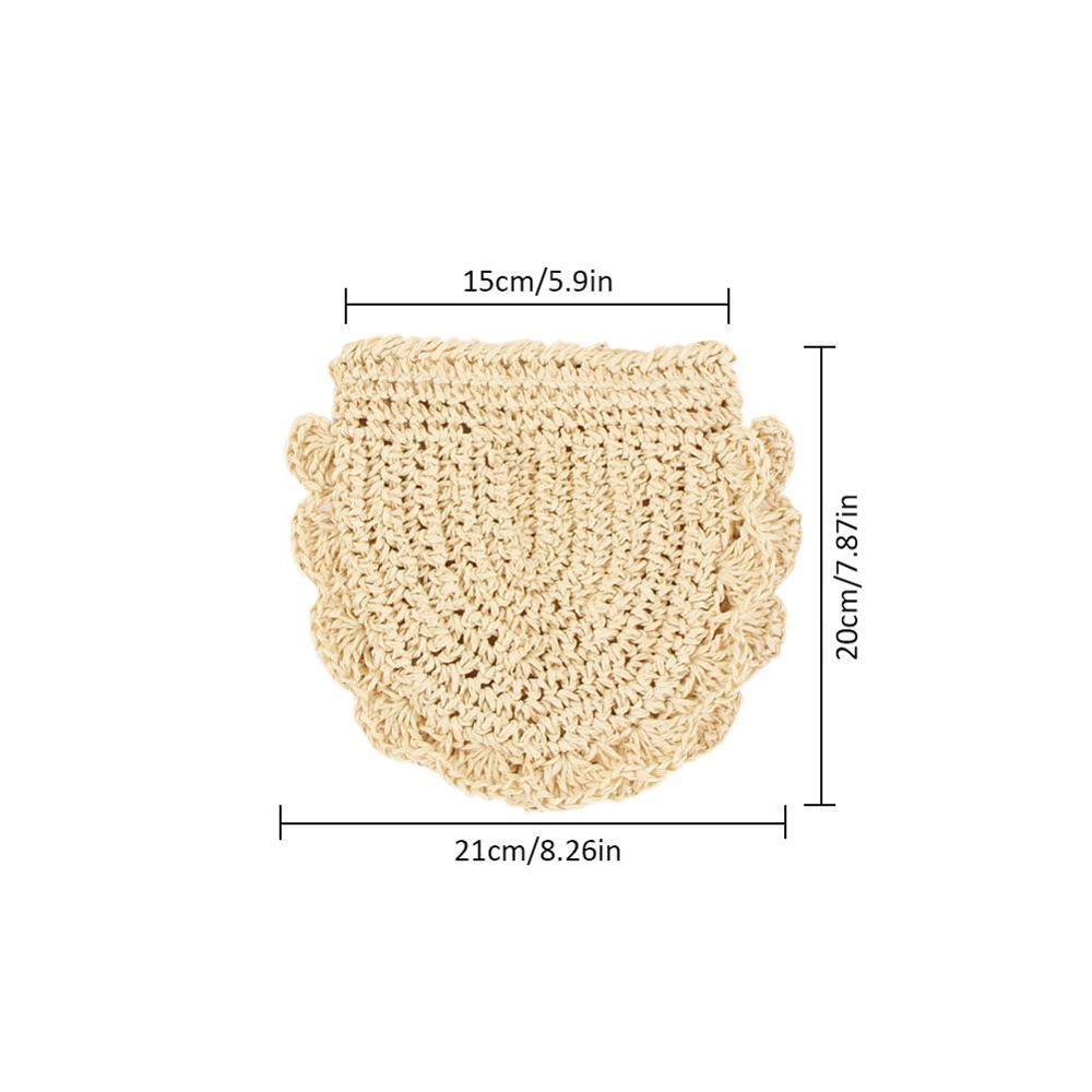 Hand Woven Round Straw Bags Beach Travel Dual Uses Causal Bag For Women Hand Storage Single Shoulder Messenger Handbags Bags in Top Handle Bags from Luggage Bags