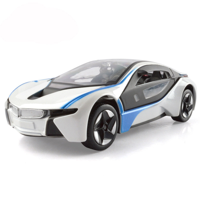 1:32 Concept Cars Model I8 Alloy Cars Static Model Metal Sports Car Supercar Pull Back Light Sound Kids Toys Gift