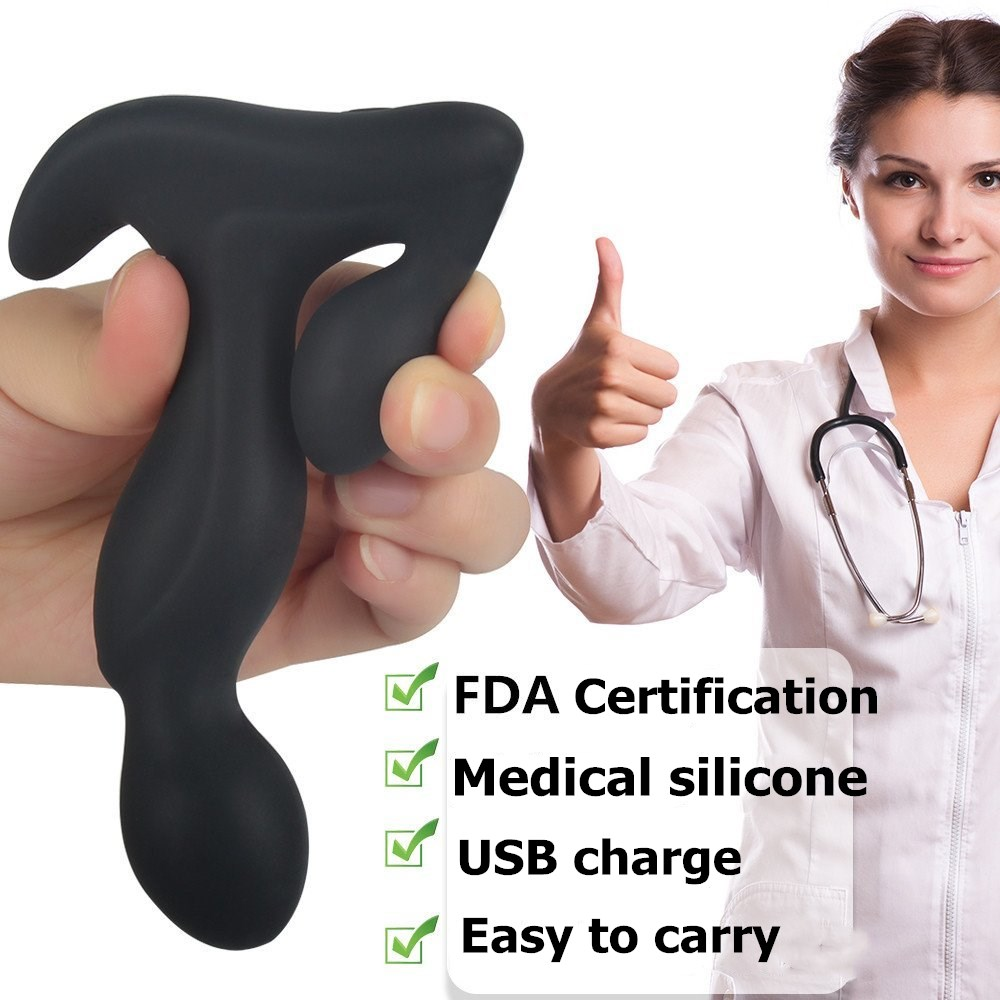 GUIMI 3 Speed 9 Frequency Anal Plug Rotating Male Prostate Massager G-Spot Stimulate Vibrator Butt Plugs Anal Sex Toys! mizzzee silicone wireless remote prostate massager g spot vibrator massager vibrating anal sex toys for men butt plug products