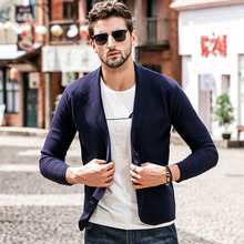 GustOmerD 2018 New Men sweater Autumn Winter Casual Turtleneck Solid Color Cardigan Sweater Coat Buttons Knitting Sweater Coats