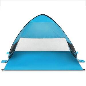 Image 2 - Автоматический всплывающий Пляжный Тент Cabana портативный UPF 50 + солнцезащитный тент для кемпинга, рыбалки, пешего туризма, тенты для кемпинга на открытом воздухе