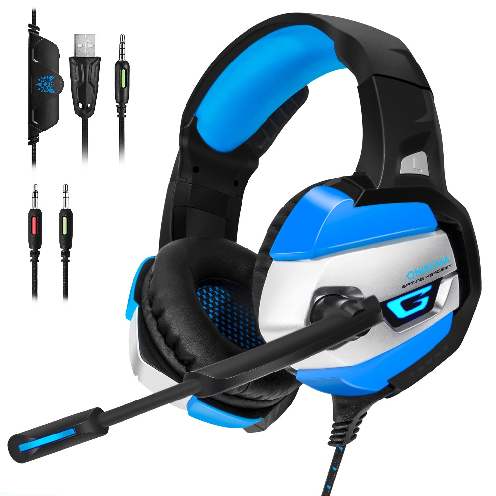 Best Gaming Headset Gamer casque Deep Bass Gaming Headphones for Computer PC PS4 Xbox one Laptop Notebook with Microphone LED gaming headset led light glow noise cancealing pc gamer super bass headband headphones with microphone for computer pc