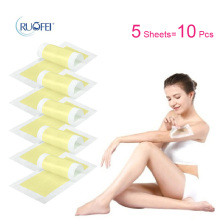 10pcs=5sheets New 0X Leg Body Hair Removal Depilatory Cold Wax Strips Papers Waxing Nonwoven Free Shipping