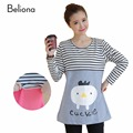 Autumn Spring Stripe Cartoon Maternity Nursing Clothes Breastfeeding Tops T shirts for Pregnant Women Casual Pregnancy T-shirts
