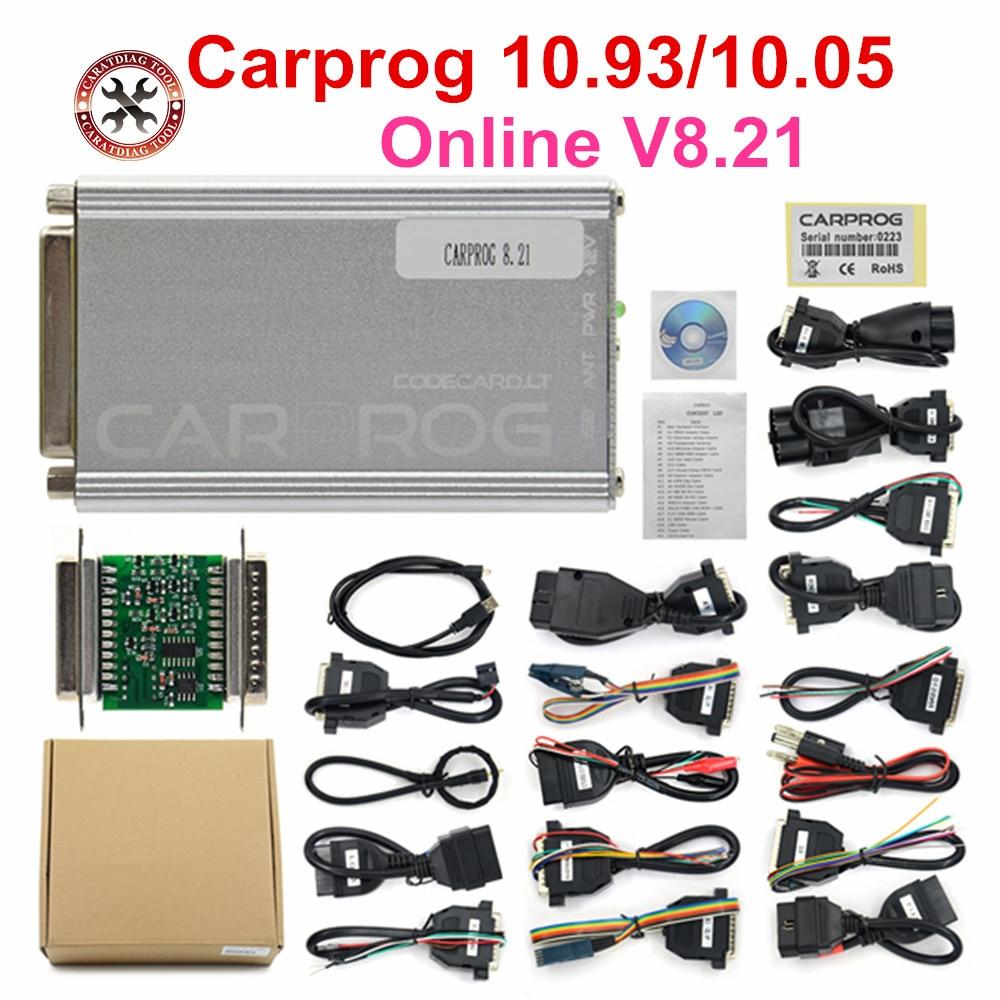 Carprog V10.0.5 CarProg V10.93 10.05 ECU Chip Tunning Car Repair Tool Carprog V8.21 Online Car prog (With 21 Items Adapters)|Code Readers & Scan Tools|   - AliExpress