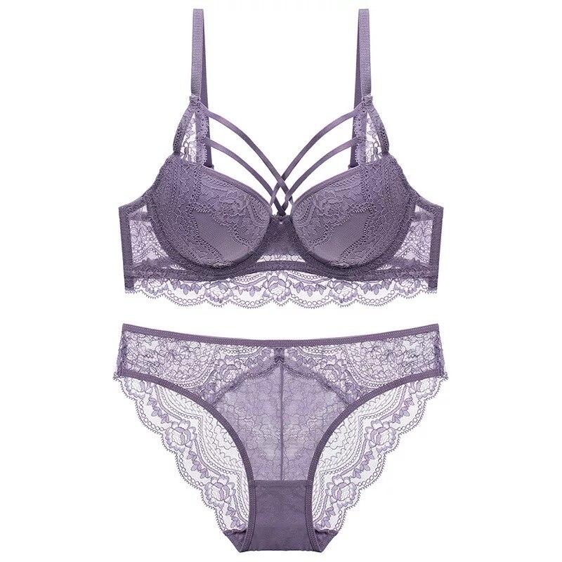 3ed5a5129 O Envio gratuito de New Sexy underwear Rendas Empurrar Para cima Lingerie  conjunto de sutiã das