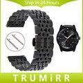 22mm de acero inoxidable correa de reloj de correa de liberación rápida para lg g watch W100 W110 W150 Urbano Pebble Tiempo/Wrist Band Pulsera de Acero