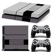 grey and black custom personal skin sticker for PS4 console and 2 controllers skin sticker decals covers #TN-PS4-1425