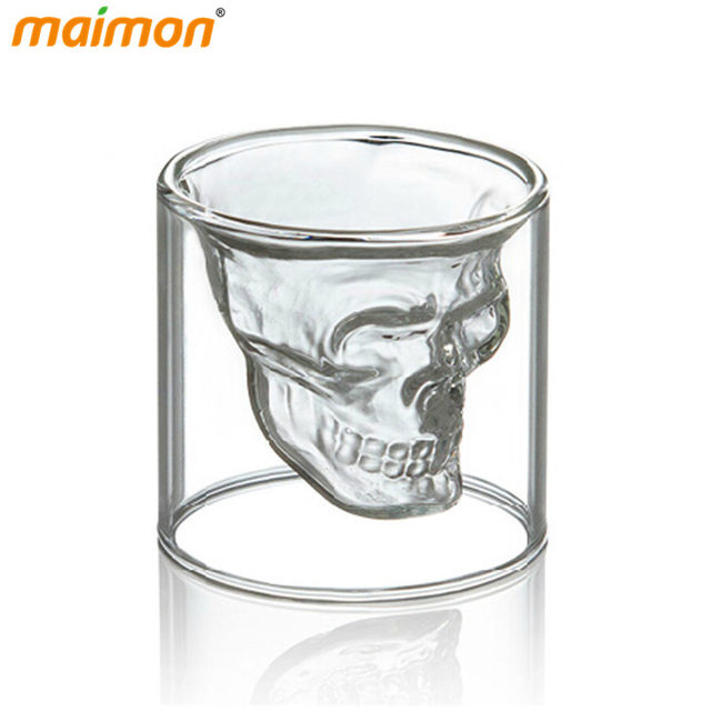 Online Shop 4 pcs/set Double Wall Transparent Crystal Skull Head ...