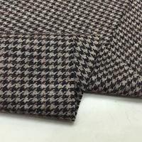 Custom High End Wool Weaving Fabric Exquisite Thin Bird Bird Weave Thin Wool Clothing Skirt Pants