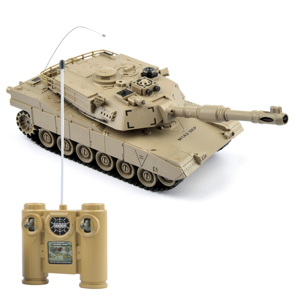 Image 3 - 1/28 RC Tank Remote Control Toys Battle RC Tank M1A2 Automatic Presentation Tanks Via Musical scal Toys For Boys Xmas Gifts-in RC Tanks from Toys & Hobbies